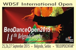 """WDSF International BeoDance Open – TROFEJ BEOGRADA 2015""."